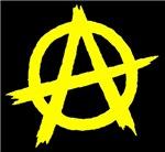 Anarchy Symbol Yellow