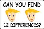 Can You Find the 12 Differences?