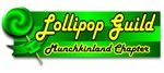 The great Lollipop Guild in Green, Munchkinland Chapter is a perfect Wizard of Oz design for any fan of the Munchkins.