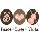 Peace Love Viola T-shirt Violist Gifts