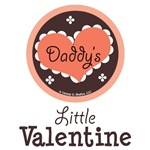 Daddy's Little Valentine Baby Kid T shirt Gifts