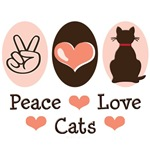Peace Love Cat Lover T-shirt Gifts