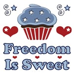 Americana Freedom Patriotic Cupcake T shirt Gifts