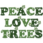 Peace Love Trees Arbor Day T shirt Gifts