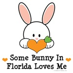 Some Bunny In Florida Loves Me T-shirt Gifts