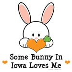 Some Bunny In Iowa Loves Me T-shirt Gifts
