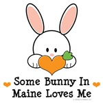 Some Bunny In Maine Loves Me T-shirt Gifts
