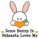Some Bunny In Nebraska Loves Me T shirt Gifts