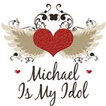 Winged Heart Michael Is My Idol T Shirt Tees Gifts