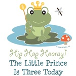 Frog Prince 3rd Birthday Invites T-shirts Party De