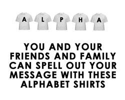 ALPHABET SHIRTS