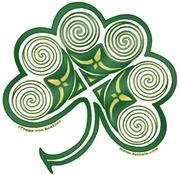Irish Shamrock Spiral Design T-Shirts and Gifts