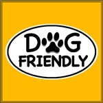 Dog Friendly White Oval