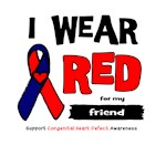 I wear red for my friend