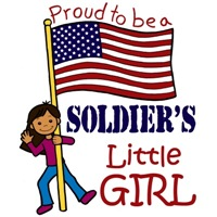 Proud to Be a Soldier's Little Girl (Dark Skin)