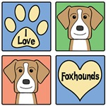 I Love American Foxhounds (Tan)