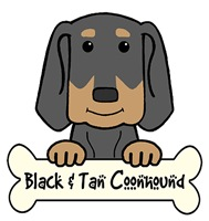Black and Tan Coonhound Cartoon T-Shirts and Gifts