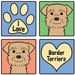 I Love Border Terriers (Wheaten)
