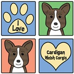 I Love Cardigan Welsh Corgis (Brindle Corgi)
