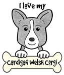 Blue Merle Cardigan Welsh Corgi Cartoon