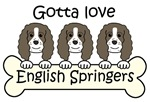 Three English Springers