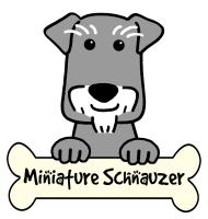 Miniature Schnauzer Cartoon T-Shirts and Gifts