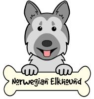 Norwegian Elkhound Cartoon T-Shirts and Gifts