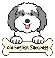 Old English Sheepdog Cartoon T-Shirts and Gifts