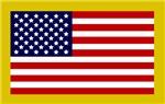 Modern American Flag Stickers