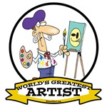 WORLDS GREATEST ARTIST CARTOON