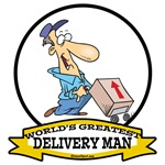WORLDS GREATEST DELIVERY MAN CARTOON