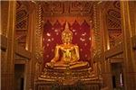Golden Meditating Budha Shrine