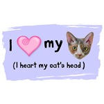 I heart my cat's head
