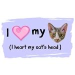 I heart my cat's head