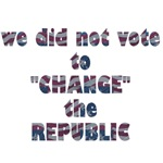 We Did Not Vote to Change the Republic