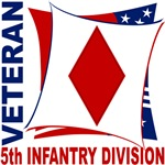 5th Infantry Division Red, White, and Blue Veteran