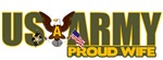 T-shirts, mugs, hats and stickers with text - US Army Proud Family