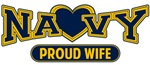 T-shirts, hats, mugs, stickers and gift items for Navy Wife