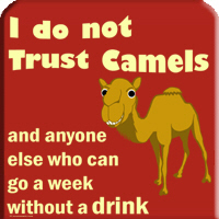 Don't trust camels
