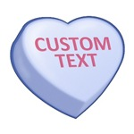 Blue Custom Candy Heart