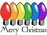 Merry Christmas Rainbow Lights