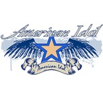 American Idol Winged Star - Blue