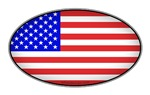 Oval American Flag