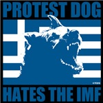 Greek Protest Dog