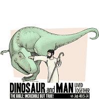 Dinosaur & Man Shirts