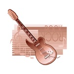 electric brown guitar
