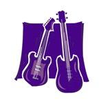 guitar bass purple