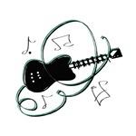 black guitar swirls design