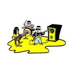 cartoon band  yellow