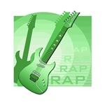 electric guitar music design rap green